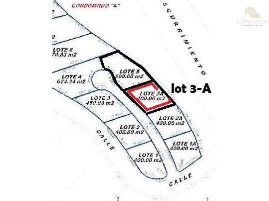 terreno en el tule bcs 3 a calle 1 cabo corridor