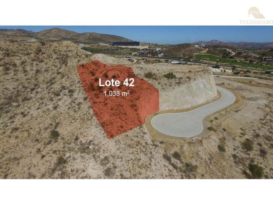 campestre mountaintop lot 42 ac via rs2 5 san jose del cabo