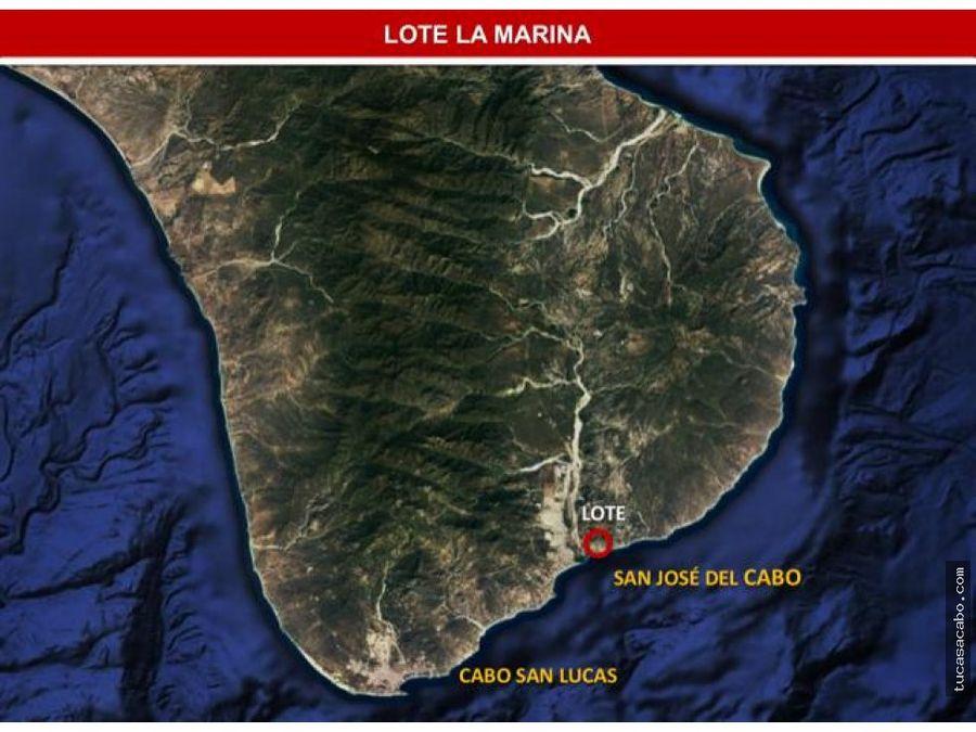 terreno marina puerto los cabos san jose del cabo