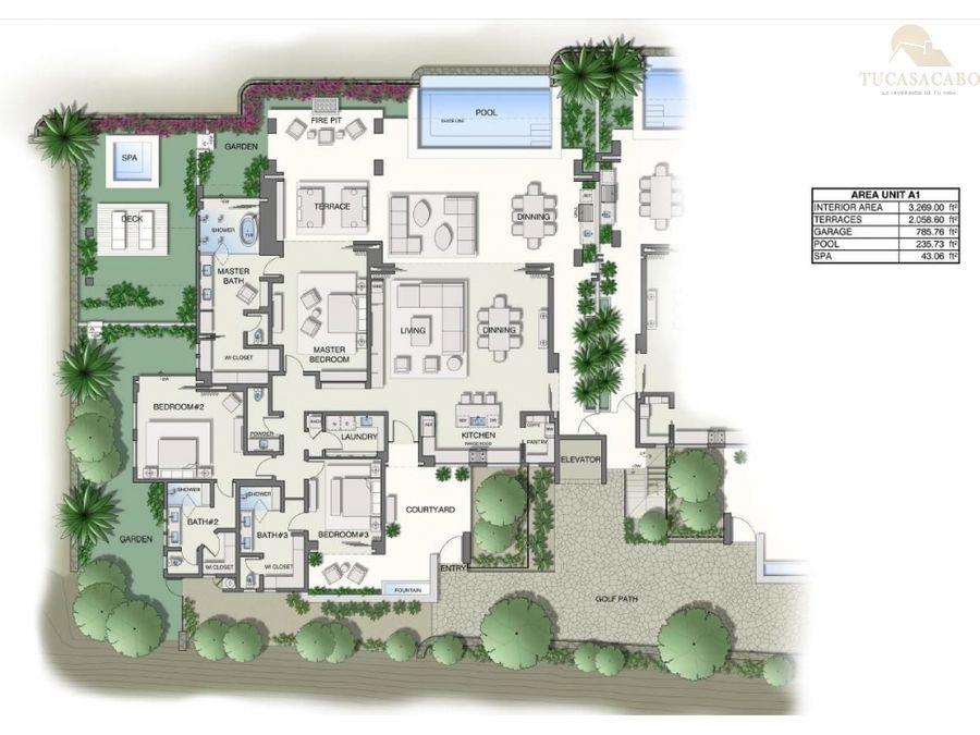 reserva garden villa villas del mar a 1 san jose corridor