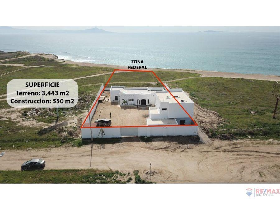 se vende propiedad enfrente del mar en ensenada