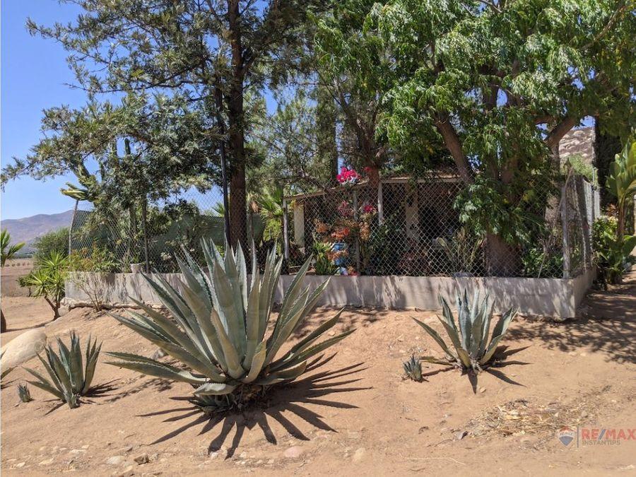 se vende terreno en el valle de guadalupe con permiso de agua y pozo