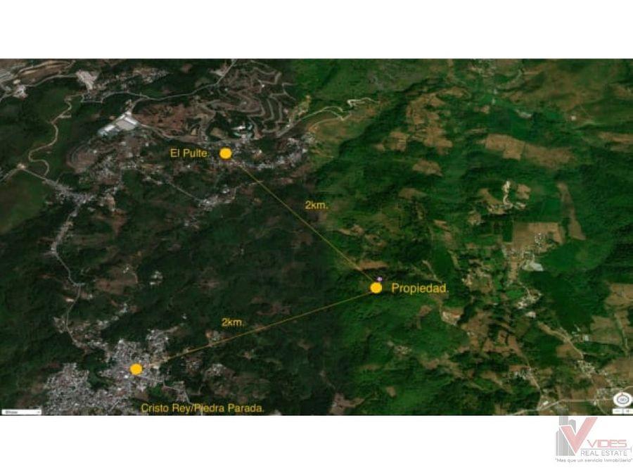 venta terreno cercanias a aldea cienaga