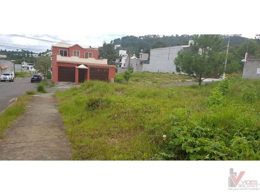 venta terreno en zona 17 hacienda real