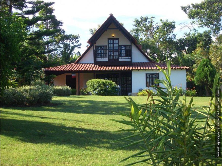 venta casa campestre cerca al parque del cafe