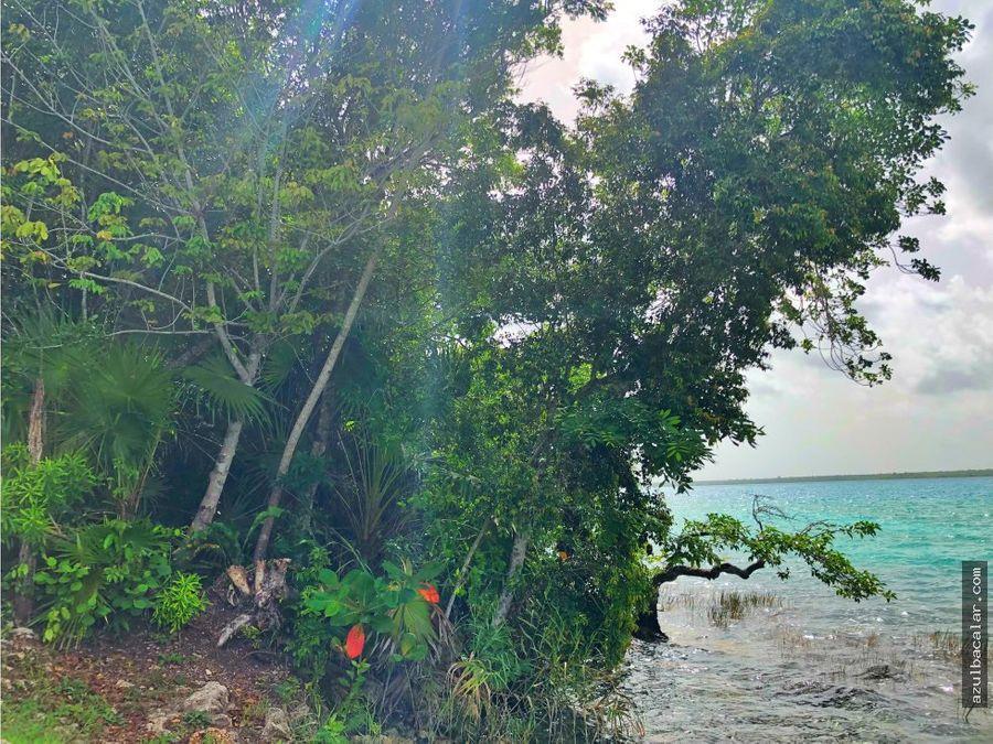 terreno frente a la laguna de bacalar 3600mtrs2
