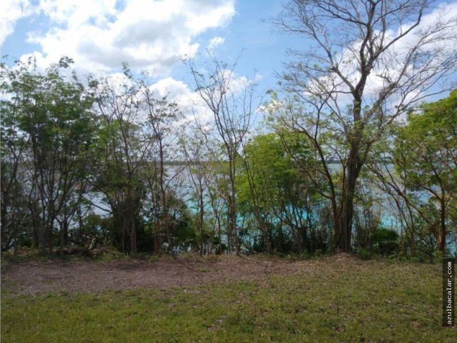 venta de terreno frente a la laguna de bacalar