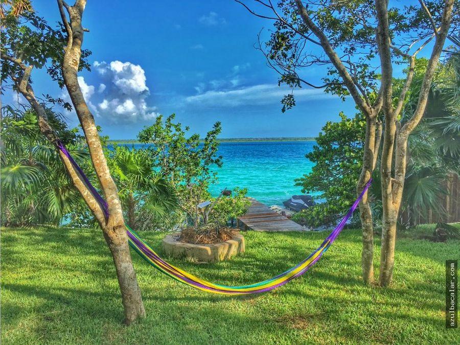 hermosas cabanas ecologicas frente a la laguna