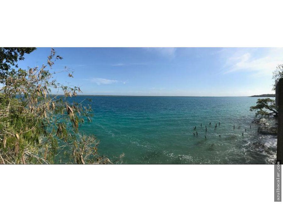 terreno frente a la laguna de bacalar 4750 mtrs2