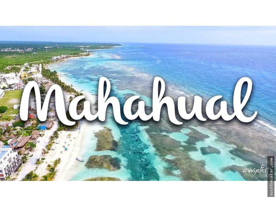 terreno frente al mar en mahahual
