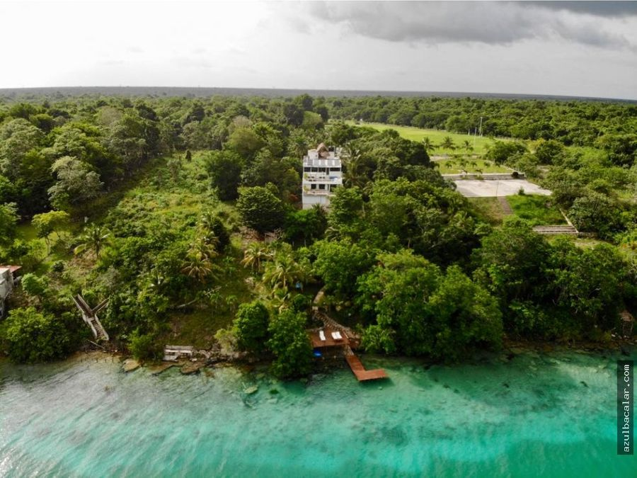 eco resort frente a la laguna de bacalar