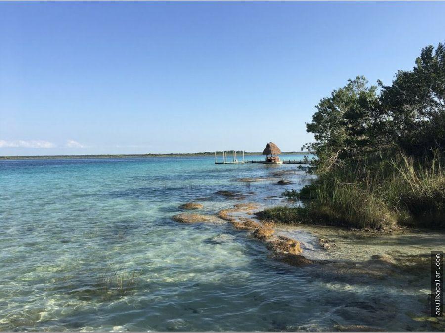 terreno frente a la laguna de bacalar