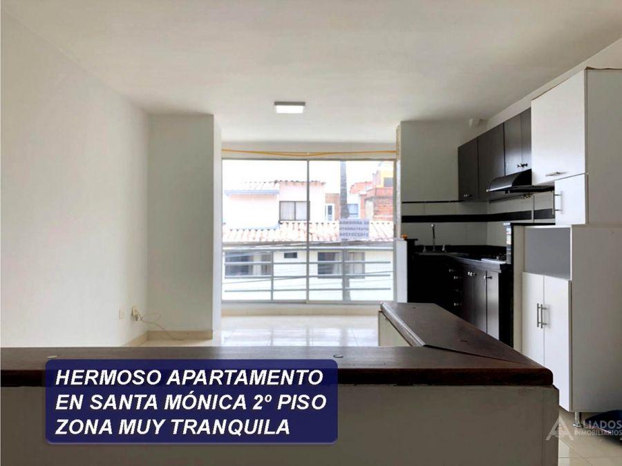 se vende bonito apartamento en barrio santa monica