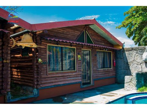 propiedad con 6 cabanas para vacacionar