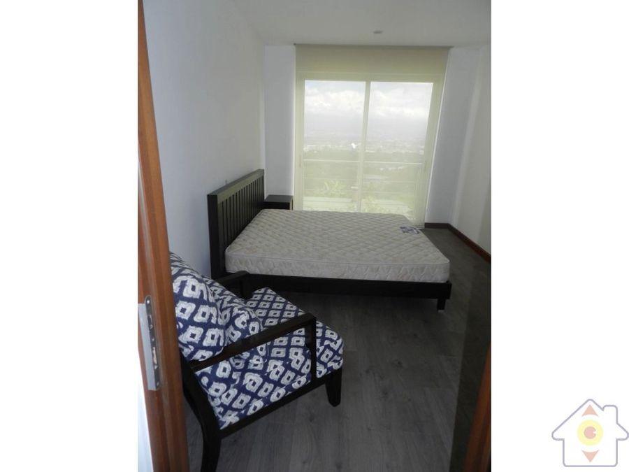 apartamento amueblado 2 hab en bosques de escazu