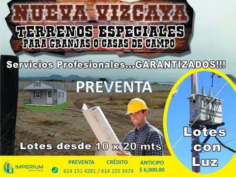 pre venta de terrenos para granja desde 200 m2