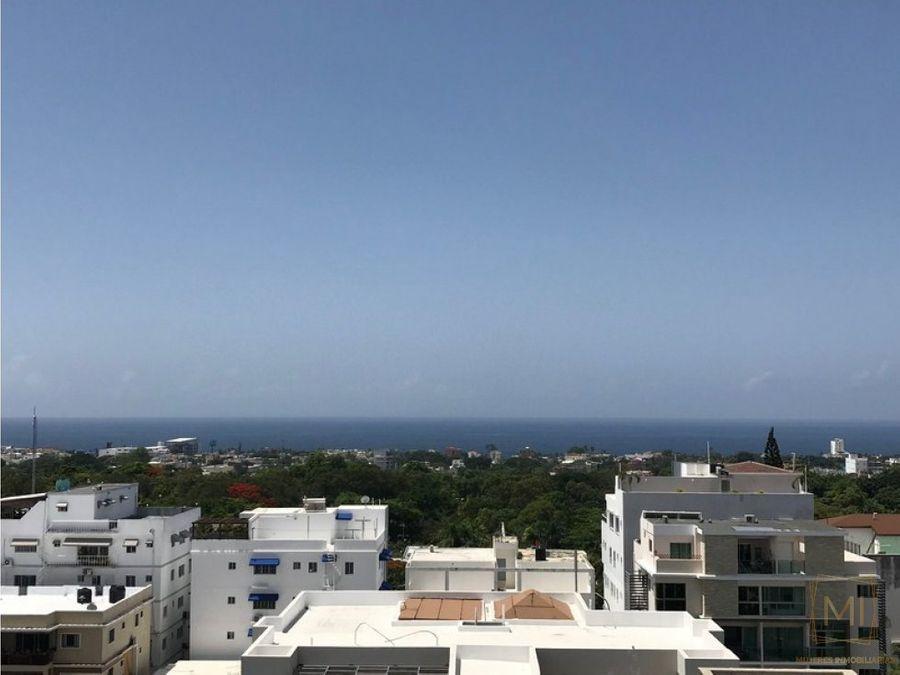 penthouse con vista franca al mar en mirador sur
