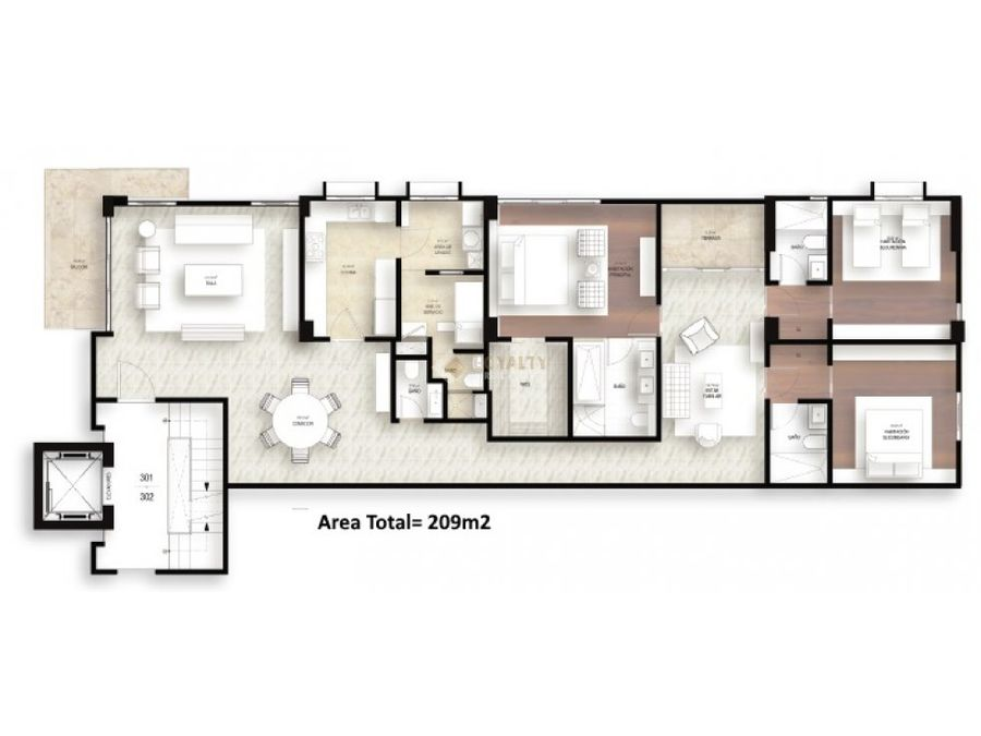 las 020 11 18 1 apartamento en los cacicazgos