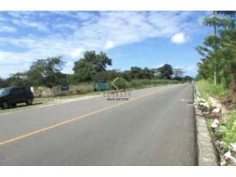 lgs 077 08 20 vendo amplio terreno en san fco de macoris