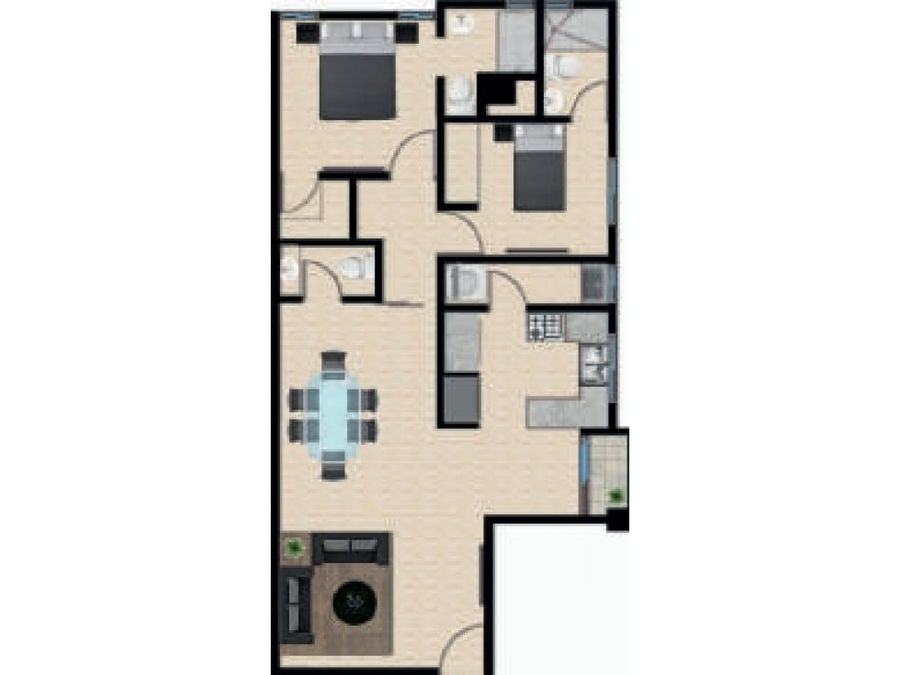 las 021 06 19 vende apartamento en los 3 ojos