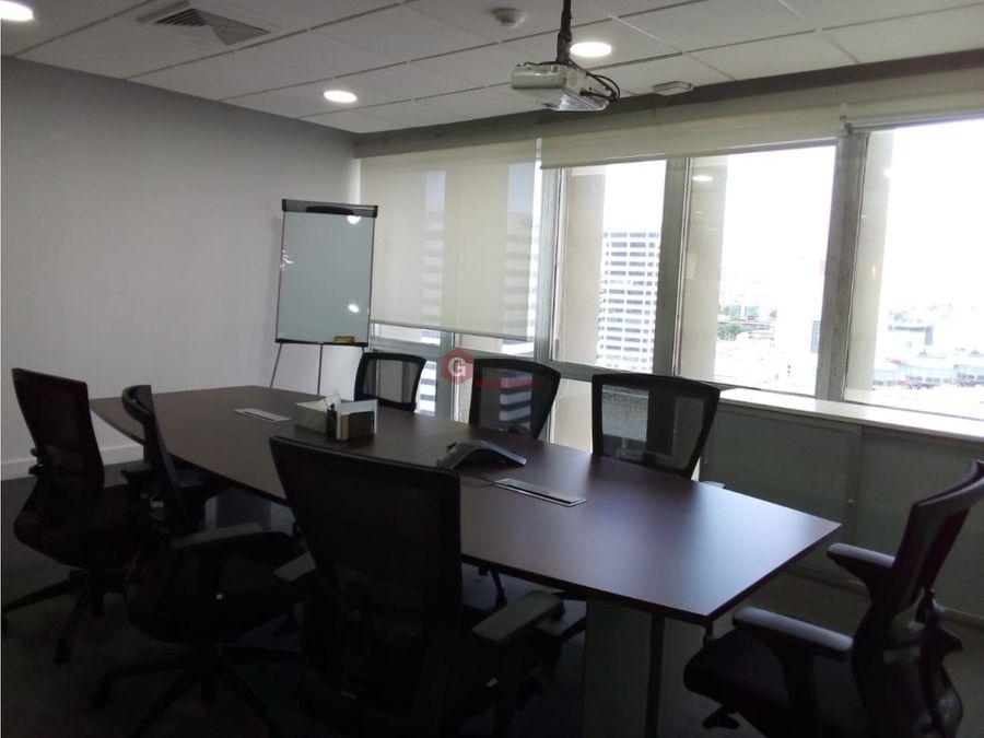 oficina torre delta vista hermosa amoblada 600 m2