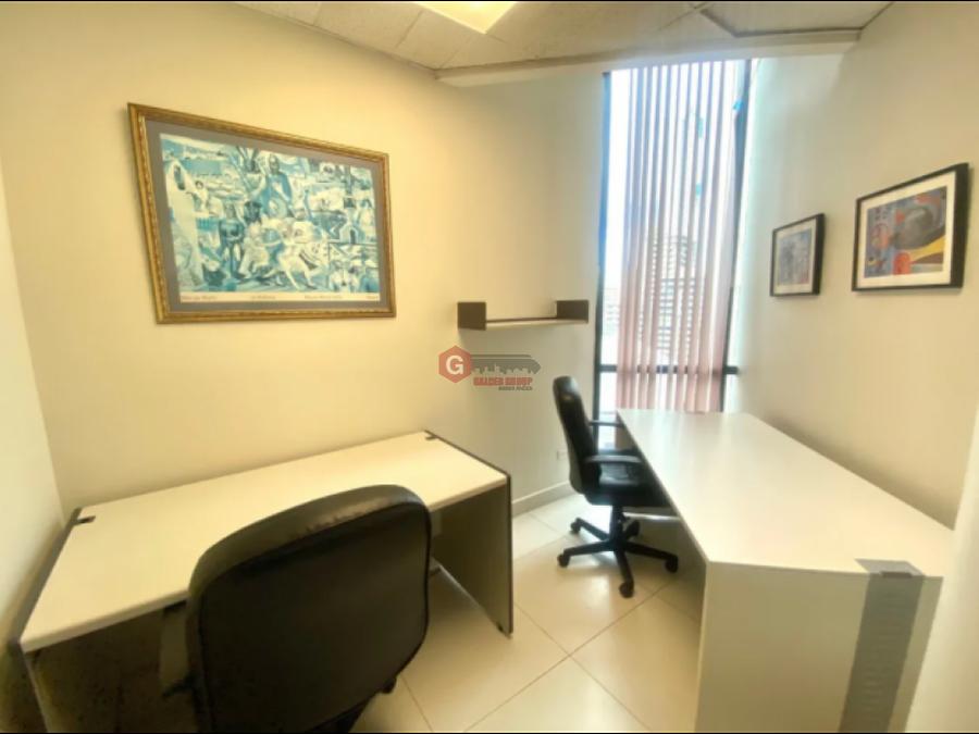 oficina torre banco general marbella amoblado 67 m2