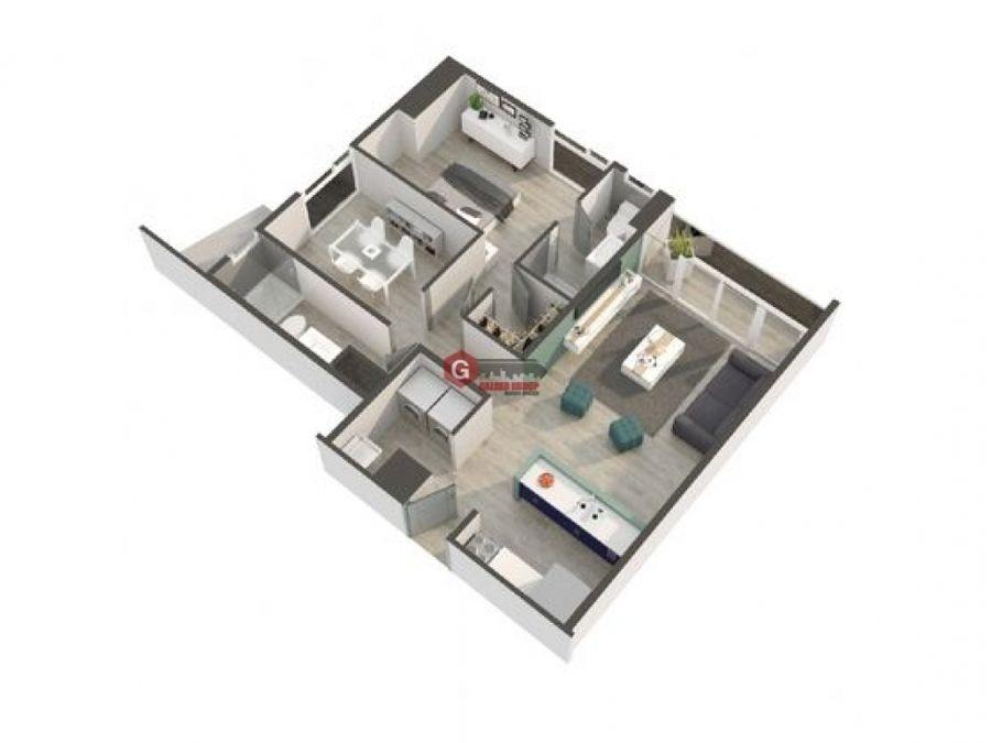 torre mondrian parque omar 1 habitacion 79m2 modelo a