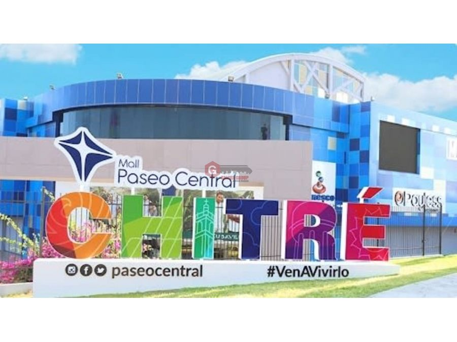 local comercial en paseo central mall chitre 165m2