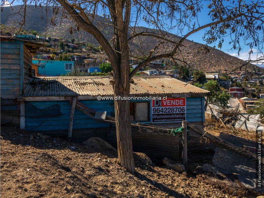 illapel terreno urbano 480m2 agua y luz instalada caseta sanitaria