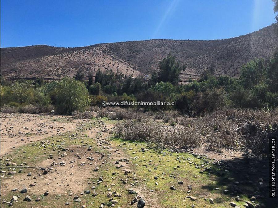illapel parcela 1 hectarea plana pozo de agua inscrito la colonia