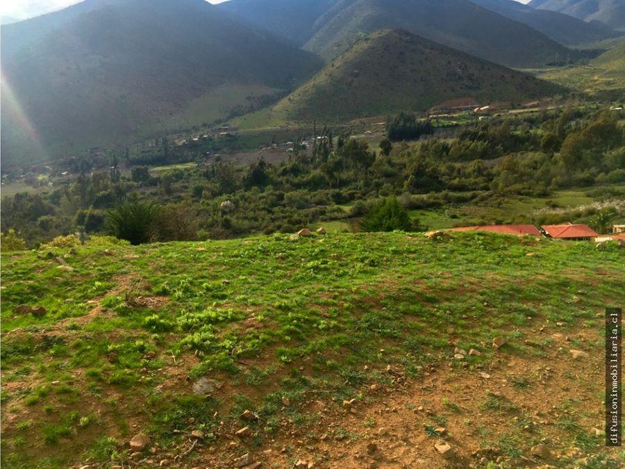 illapel parcela 11 hectarea con cabana agua y luz instaladas huintil