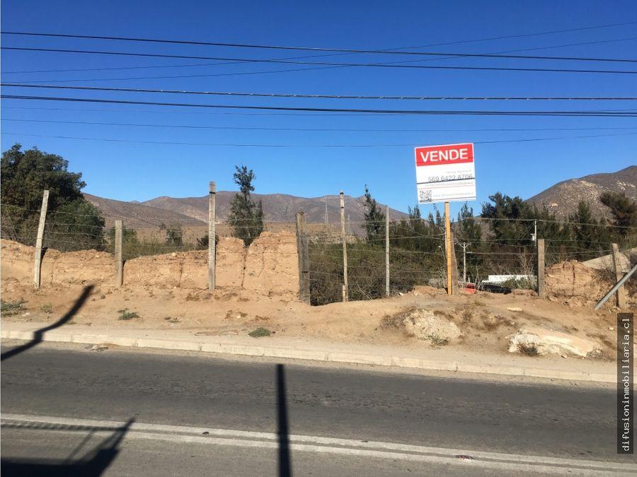 terreno en illapel zona urbana irarrazabal no1470