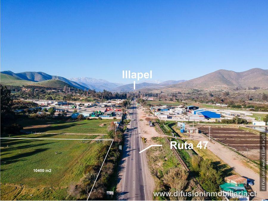 lote plano zona urbana carretera acceso illapel 1 hectarea