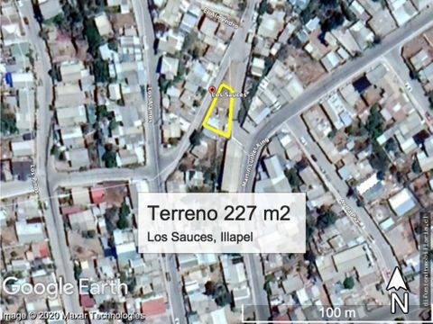 illapel sitio urbano plano 227 m2 con casa agua luz alcantarillado