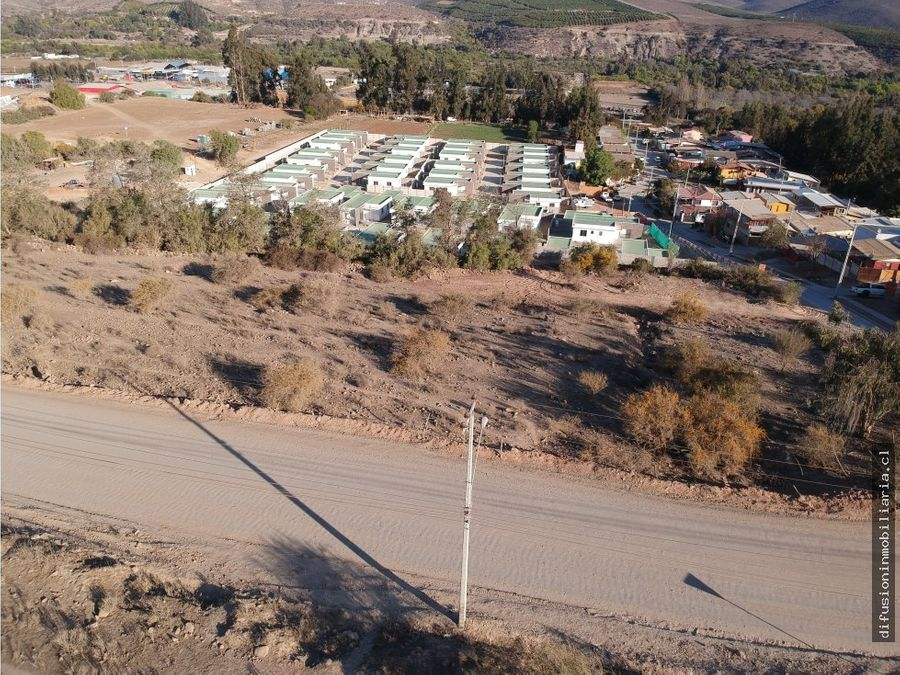 illapel lote 6933m2 zona urbana residencial camino cuz cuz