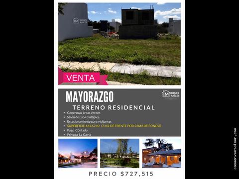 venta de terreno en mayorca residencial