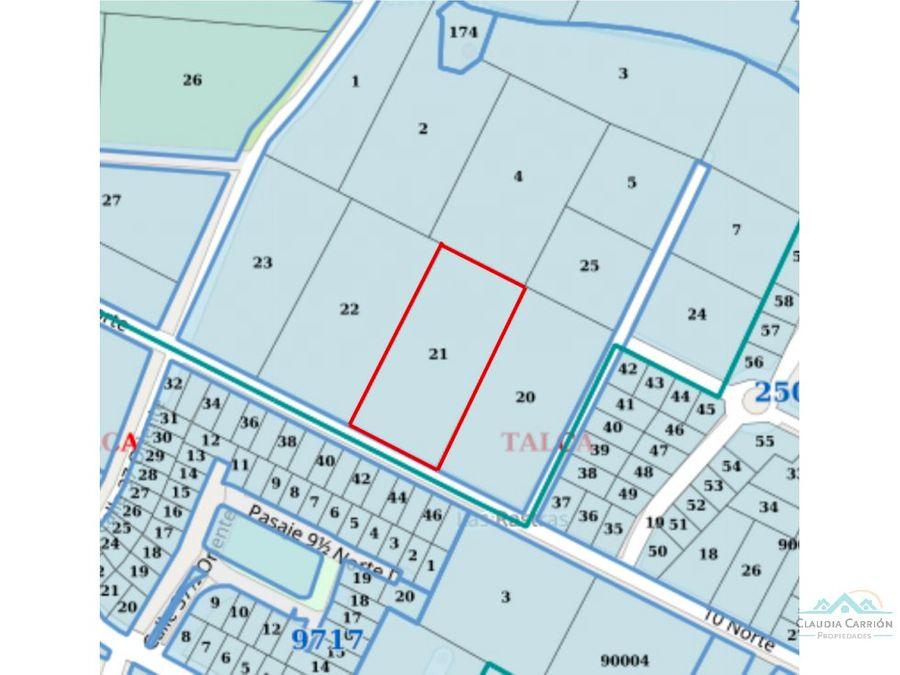 venta sitio con casa tejas verde lt 85 talca