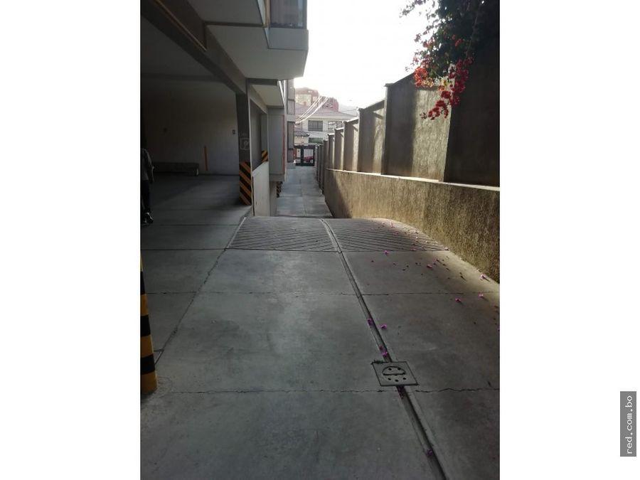 departamento en alquiler calacoto calle 22