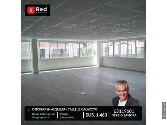 alquiler oficinas desde 133m2 a 167m2