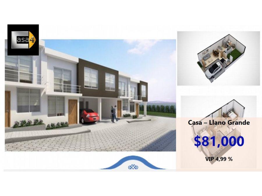 vendo casa no 6 llano grande