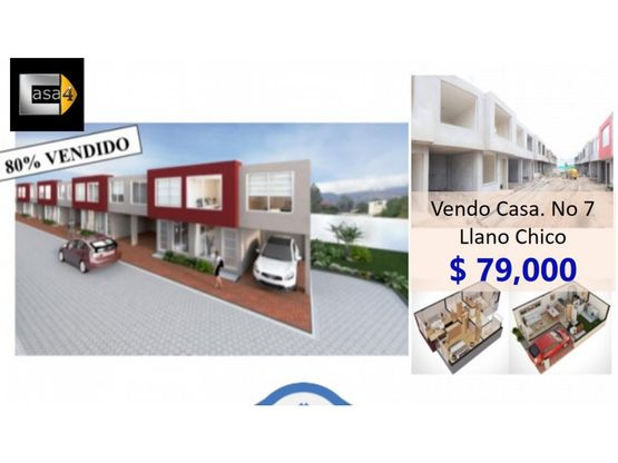 vendo casa no 7 llano chico