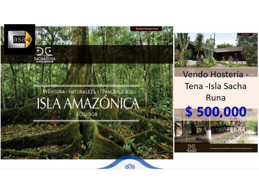 vendo hosteria tena en la isla sacha runa