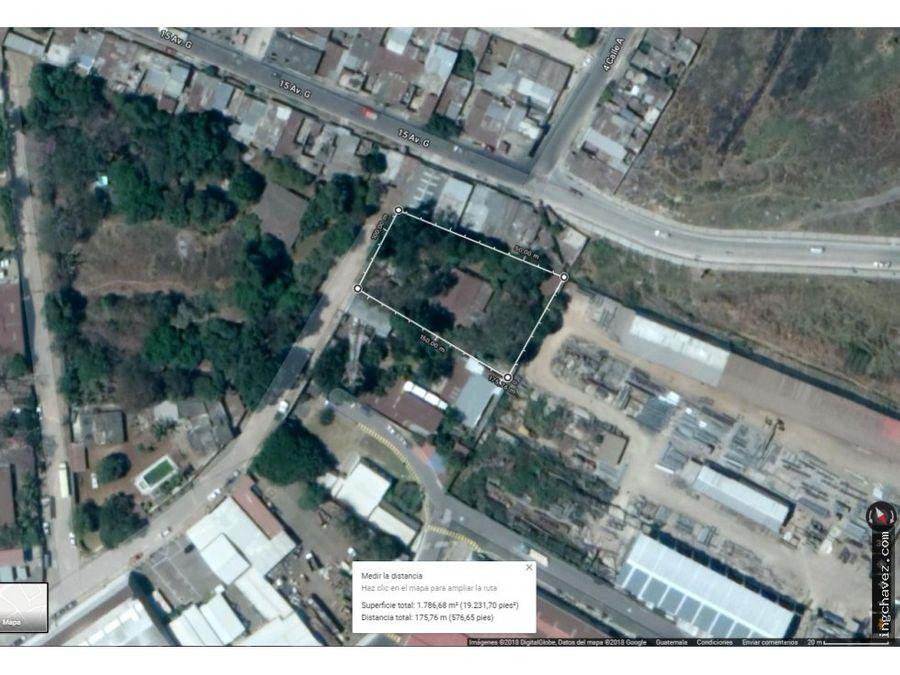 venta de terreno industrial en villa nueva