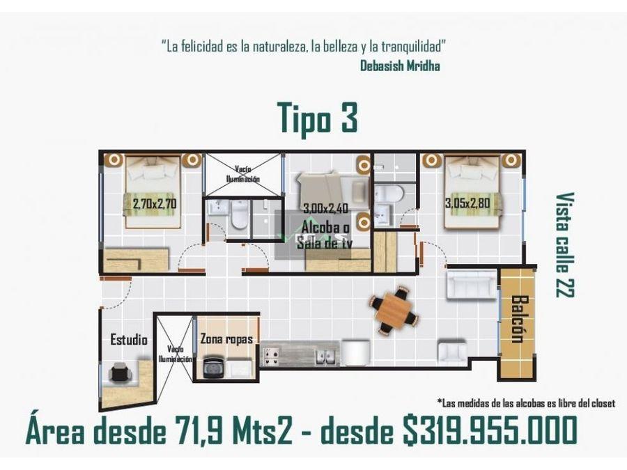 venta de apartamentos en proyecto en la ceja antioquia