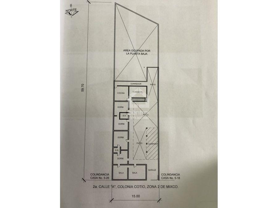 casa y terreno grande en venta zona 2 mixco cotio