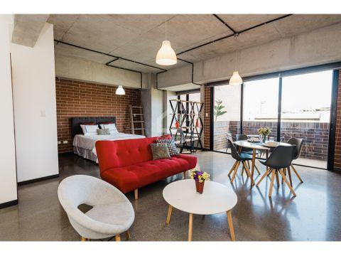 apartamento tipo estudio amueblado nuevo en renta 4 grados norte