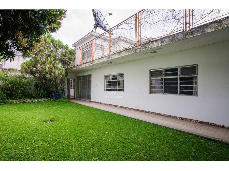casa grande con jardin en alquiler vivienda oficina en zona 10
