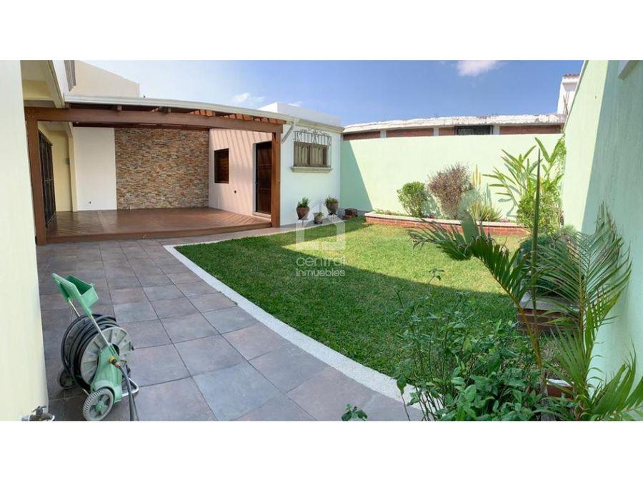 amplia casa remodelada en venta villasol zona 12
