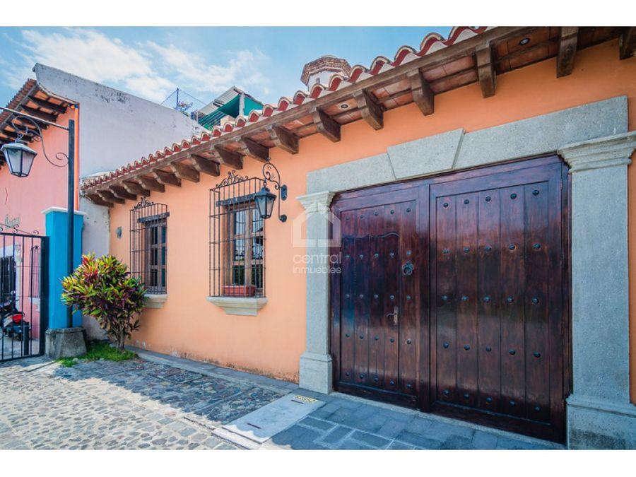 casa amueblada en renta en antigua guatemala
