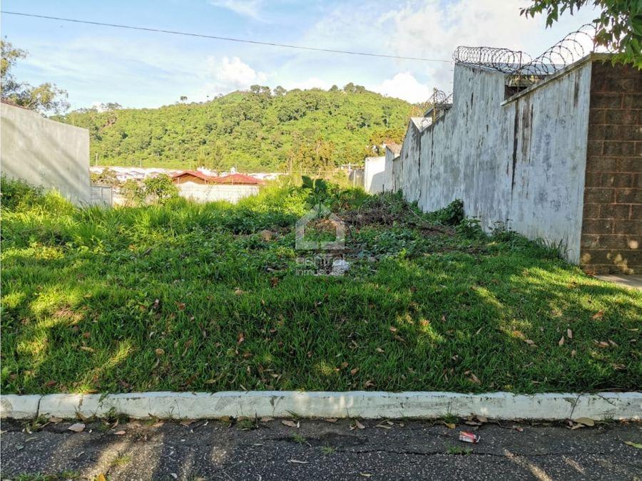 terreno amplio en venta dentro de garita vista hermosa iv zona 16